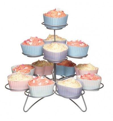 Expositor 3 niveles para cupcakes 23cm