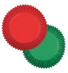Cápsulas standard rojas y verdes Wilton 75ud