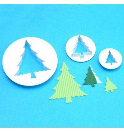 Set 3 cortadores árbol de navidad PME