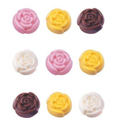 Molde rosas para chocolate/caramelo