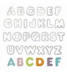 Cortadores alfabeto, 26 piezas