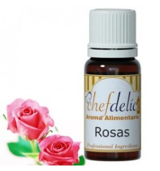 Aroma concentrado de Rosas chefdelíce 10 ml