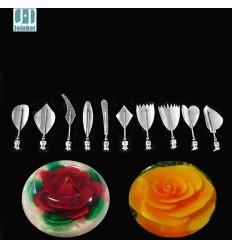 Set de Gubias, agujas para gelatina artística floral,modelo 2