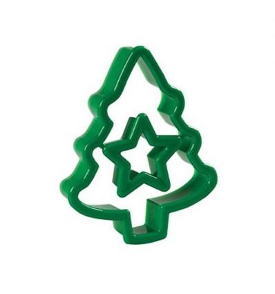 Cortador árbol de navidad y estrella