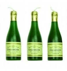 Velas Botella de Champagne 6Ud