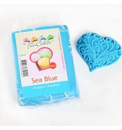 Fondant Funcakes azul mar 250 g