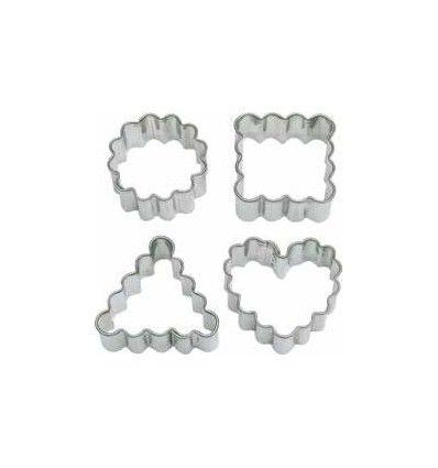 Set 4 cortadores - dentados