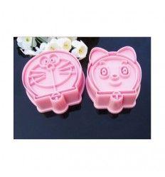 Set cortadores galletas Doraemon y Dorami